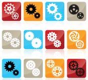 Kugghjulsymboler Fotografering för Bildbyråer