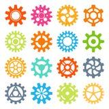 Kugghjulsymboler isolerade vektorillustrationen Royaltyfria Foton