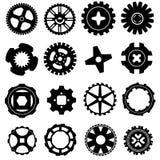 kugghjulsymboler ställde in vektorn Stock Illustrationer