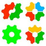 Kugghjulsymbolsillustration för design vektor illustrationer