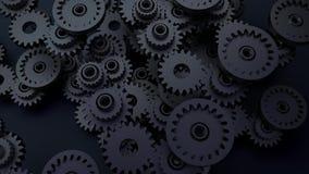 Kugghjulsystemanimering Rörelsedesignen av den sömlösa öglan förser med kuggar rotation royaltyfri illustrationer
