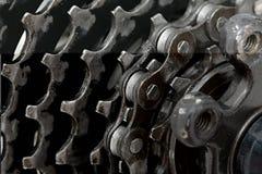 Kugghjuluppsättning av en cykel Fotografering för Bildbyråer