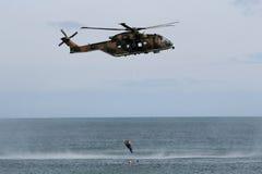 Kuguarhelikoptern recue Arkivbild