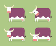 Kuh auf Wiese Stockbilder