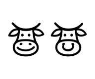 Kuh-Gesichts-Ikone vektor abbildung