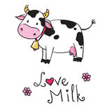kuh Ich liebe Milch Stockfotos