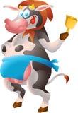 Kuh-Landwirt Stockbilder
