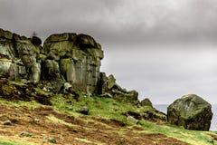 Kuh-und Kalb-Felsen stockfoto