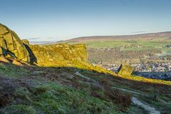 Kuh-und Kalb-Felsen Ilkley West Yorkshire Stockfoto
