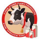 Kuh und Milch Stockfotos