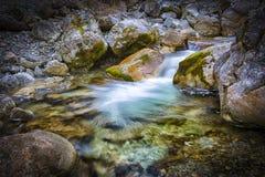 Kuhfluchtwatervallen Stock Foto's