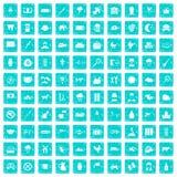 100 Kuhikonen stellten Schmutz blau ein Lizenzfreie Stockbilder