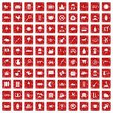 100 Kuhikonen stellten Schmutz rot ein Lizenzfreies Stockfoto