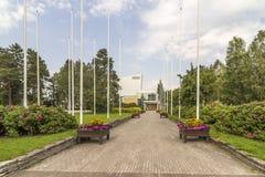 Kuhmo-hus Royaltyfri Bild