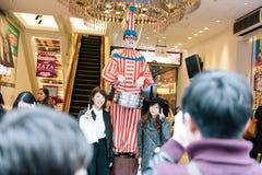 Kuidaore Taro Clown in Dotombori Osaka. Royalty Free Stock Photography