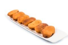 Kuih bahulu, a popular traditional Malay sweet sponge bun Stock Photo