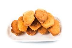 Kuih bahulu, a popular traditional Malay sweet sponge bun Stock Image