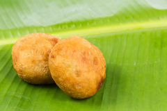 Kuih Cucur Badak, a traditional Malay delicacy.  royalty free stock image