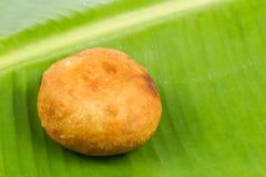 Kuih Cucur Badak, a traditional Malay delicacy.  stock photo