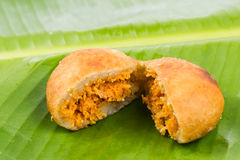Kuih Cucur Badak, a traditional Malay delicacy.  royalty free stock photography