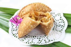 Kuih Karipap - dolce tradizionale malese Fotografia Stock