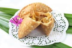 Kuih Karipap - Malajski tradycyjny tort Fotografia Stock