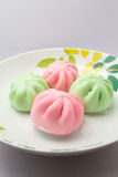Kuih Pau or Chinese steamed bun. On a plate Stock Image
