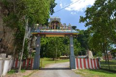 Kuil Sri Siva Subramaniam. Kampung Kepayang, Jalan Gopeng/Ipoh, Perak, Malaysia. The temple located beside the hill area Royalty Free Stock Images