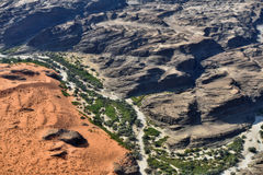 Kuiseb canyon aerial view, Namibia, Africa royalty free stock image