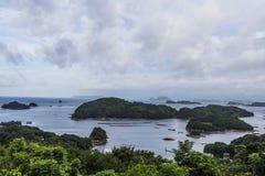 Kujuku Islands overlook in cloudy day in Sasebo, Kyushu. Stock Photography