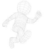 Kukły 3d mężczyzna bieg Fotografia Royalty Free