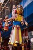 Kukły Nepal styl przy Thamel Kathmandu Nepal Obrazy Royalty Free