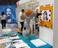 KUKA robot drawing stock photo