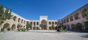 Kukeldash Medressa of Bukhara, in Uzbekistan stock images