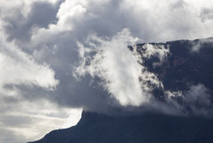 Kukenan tepui in the clouds. Mount Roraima. Venezuela, Stock Photos