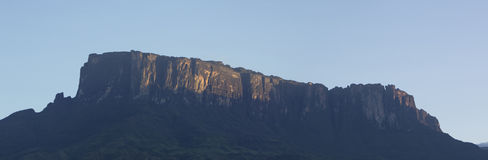 Kukenan tepui or Mount Roraima with blue sky in the morning. Ven Stock Image