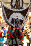 Kuker - traditionelle bulgarische Maskeradeschablone Lizenzfreies Stockfoto