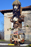 "Kukeri-†""bulgarische mummers' Masken Lizenzfreies Stockfoto"
