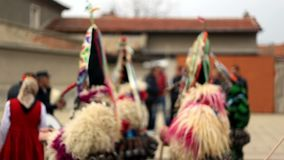 Kukeri - φεστιβάλ μεταμφιέσεων σε Rakovski, Βουλγαρία φιλμ μικρού μήκους