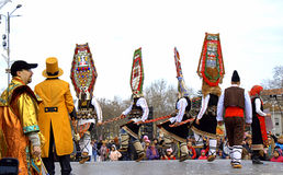 Kukeri χορού Στοκ Εικόνες