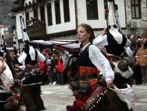 Kukeri в Shiroka Laka, Болгарии Стоковое Изображение