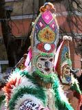 Kukeri karnaval en Bulgaria Foto de archivo libre de regalías