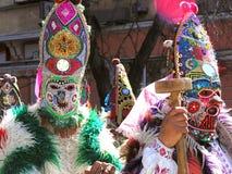 Kukeri karnaval en Bulgaria Fotografía de archivo libre de regalías