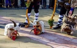 Kukeri masks in Surva Festival in Pernik, Bulgaria Stock Images