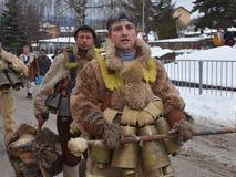 Kukeri - mummers búlgaros fotos de stock