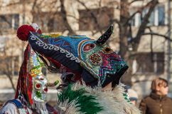 `Kukeri` participant in Surva Festival in Pernik, Bulgaria Stock Image
