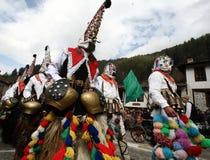 Kukeri in Shiroka Laka, Bulgaria Fotografie Stock Libere da Diritti