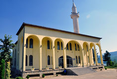 Kukes new Mosque. Kukes is a town in Albania located in the northeastern part of the country, close to the border point with Kosovo Stock Photography
