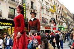 Kukiełkowy uliczny przedstawienie w Madryt zdjęcie stock