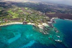 Kukio Bay, Big Island, Hawaii. Aerial view of Kukio Bay on the west coast of Big Island, Hawaii, USA Stock Photos